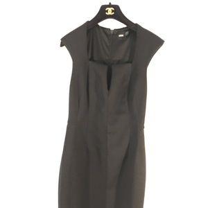 ASOS Black Scuba Midi Dress